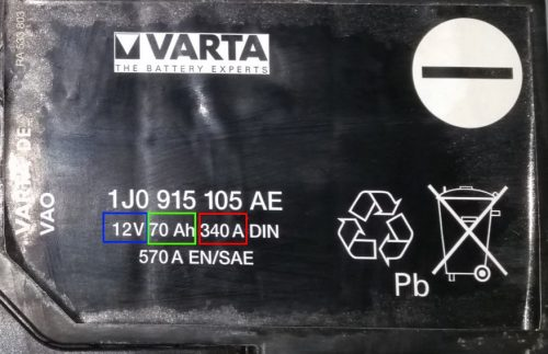 Batterie voiture détaillée
