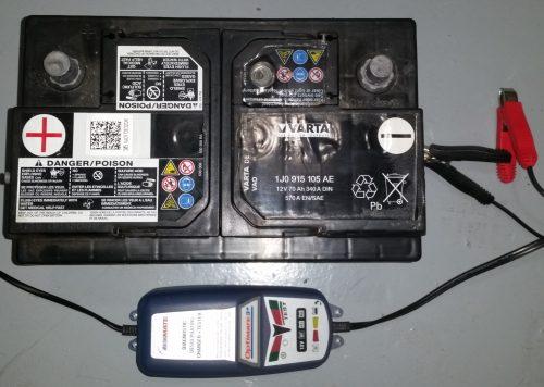Batterie non rechargée