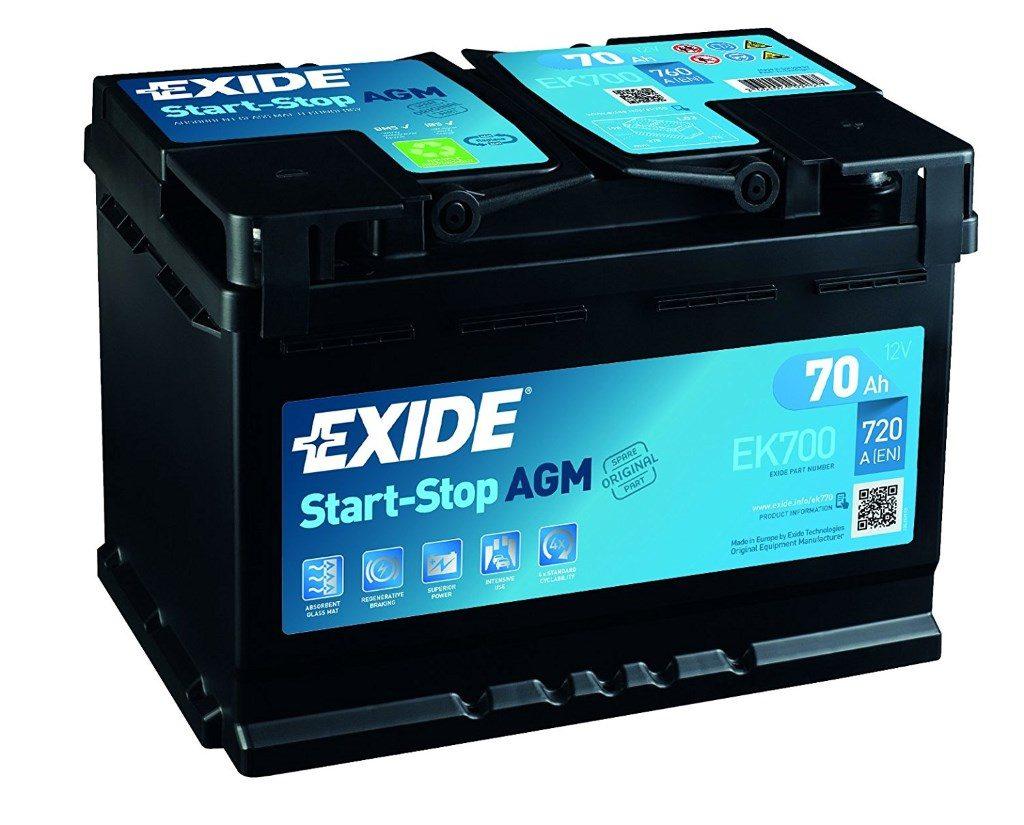 Une batterie AGM EXIDE avec Start and Stop
